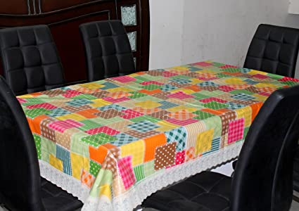 3702b1232 Image Unavailable. Image not available for. Colour  Home Fashion 6 Seater  Dining Table Cover