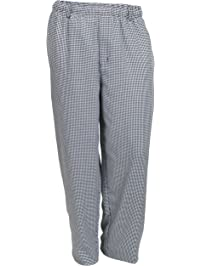 Mercer Culinary M60030HT1X Millennia Unisex Cook Pants in Hounds Tooth, X-Large, Black/White