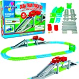 Create-A-Track Flexible Train Track & Light Up Train Set - Childrens Railway Playset - Construction Toy For Boys or Girls