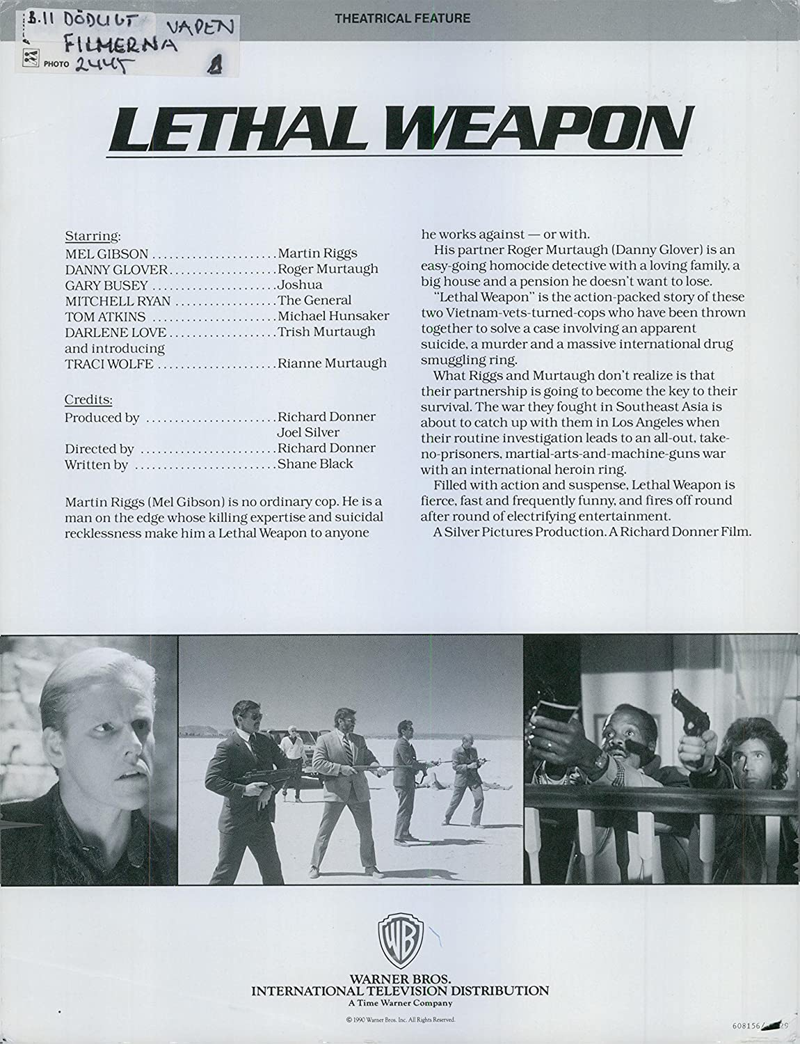 Amazon.com: Vintage photo of Lethal Weapon an American comedy series ...