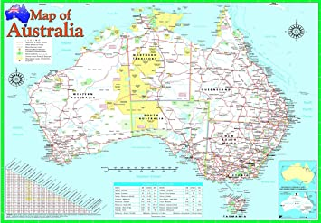 laminated australia map poster australian geographic educational teaching resource wall chart