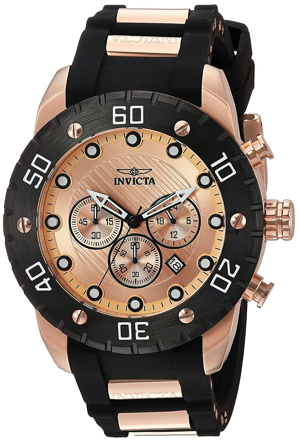 Amazon.com: Invicta Mens 20281 Pro Diver Analog Display Japanese Quartz Two Tone Watch: Watches