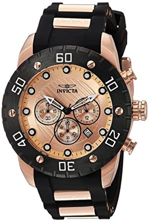 Invicta Mens 20281 Pro Diver Analog Display Japanese Quartz Two Tone Watch