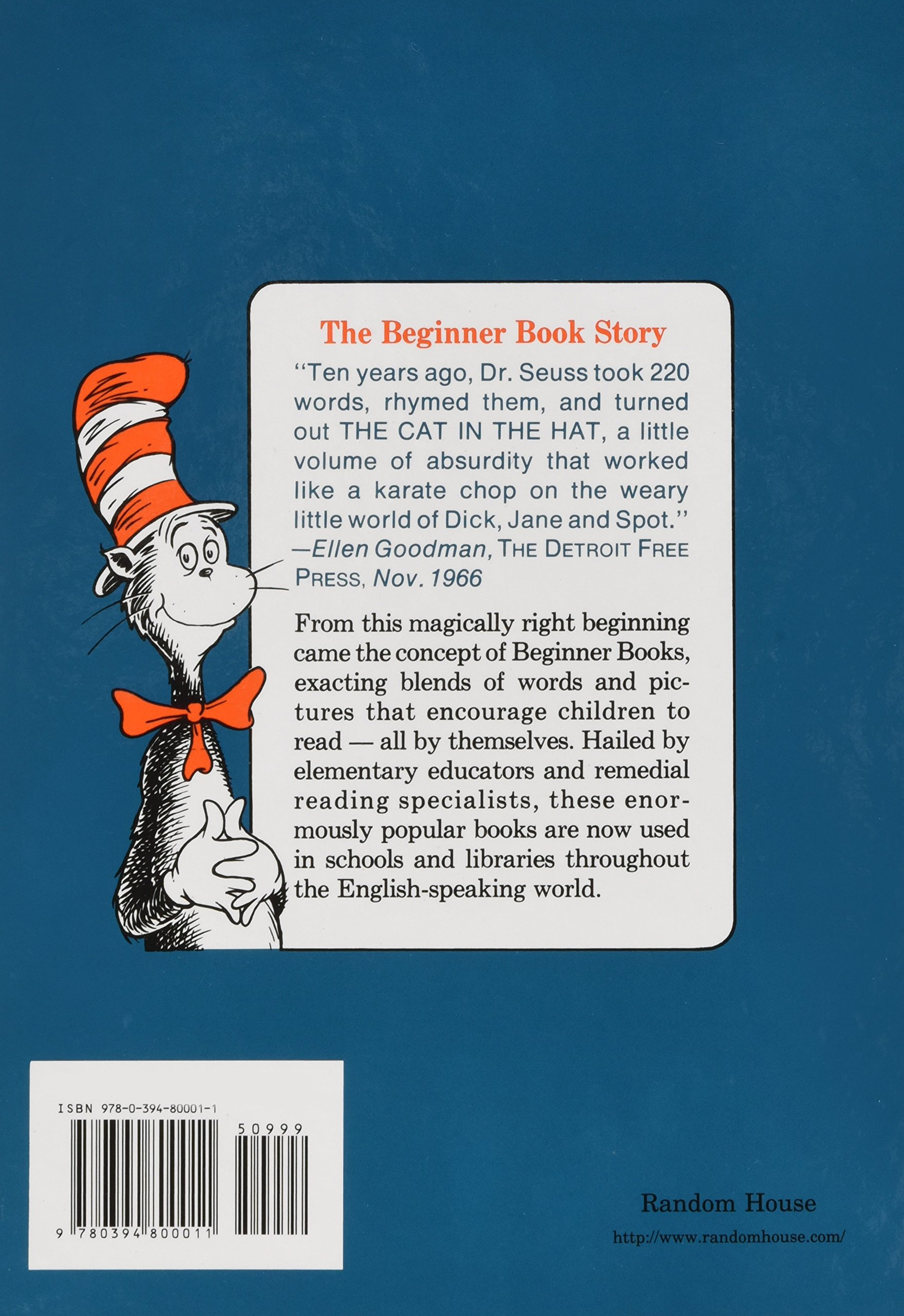 06a8ac97 Amazon.com: The Cat in the Hat (0400307299532): Dr. Seuss: Books