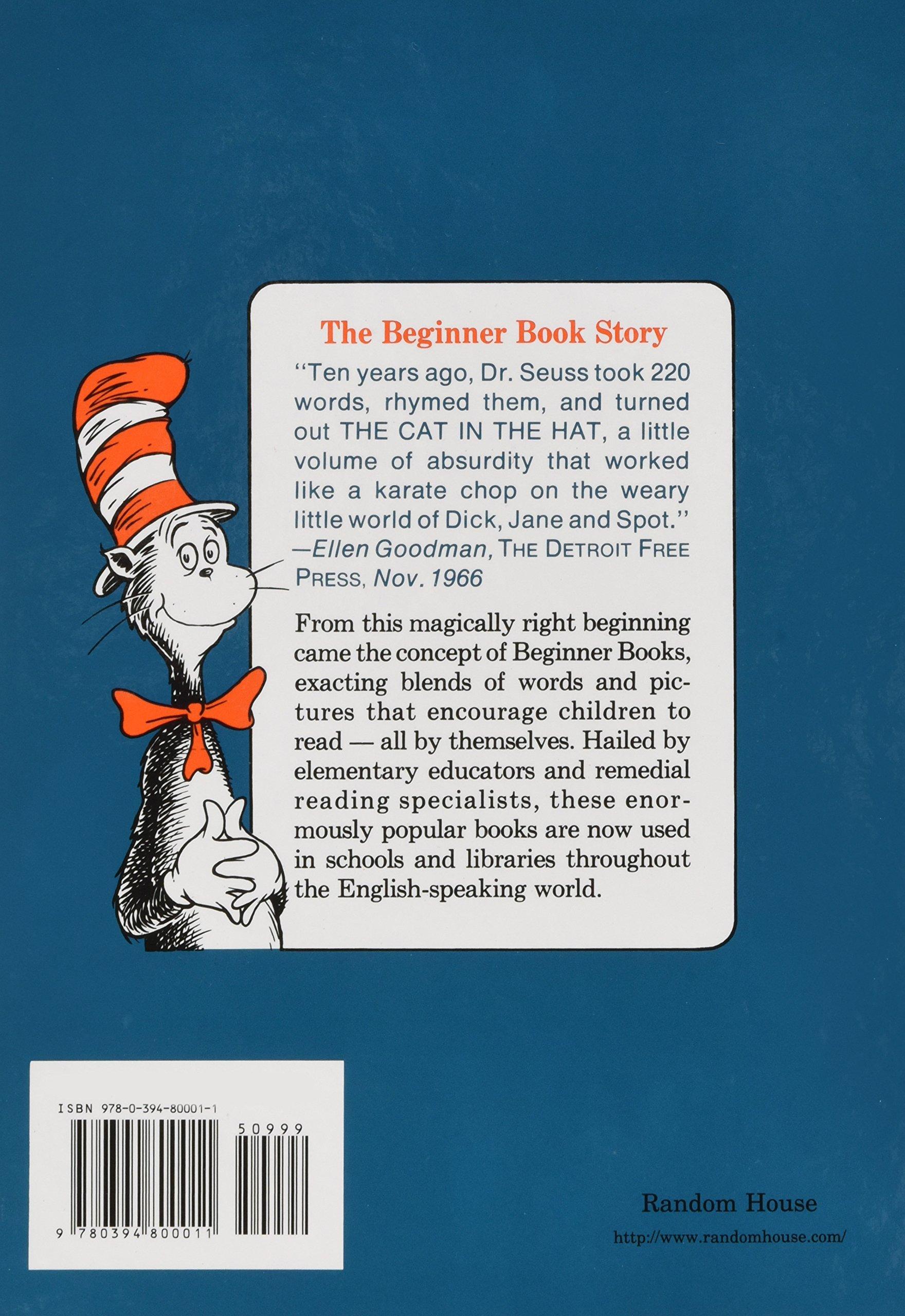 The Cat In The Hat Beginner Books R Amazon De Dr Seuss
