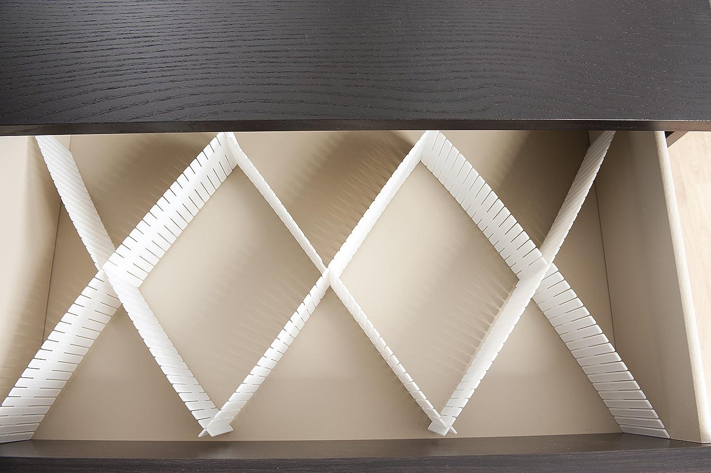 /Organizador para caj/ón polipropileno r/ígido color blanco/ Rangement /& Cie RAN5191/ /Juego de 6/placas 44/x 44/x 10/cm
