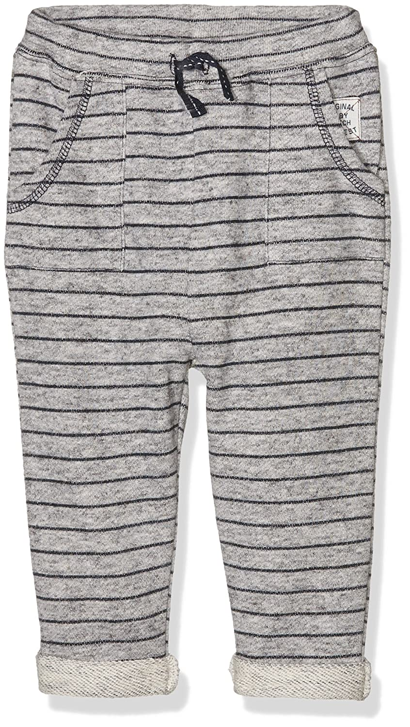 Pumpkin Patch Striped Jogger, Pantalon de Sport Bébé Garçon Gris (Athletic Marle) 3-6 Mois W6BB60004