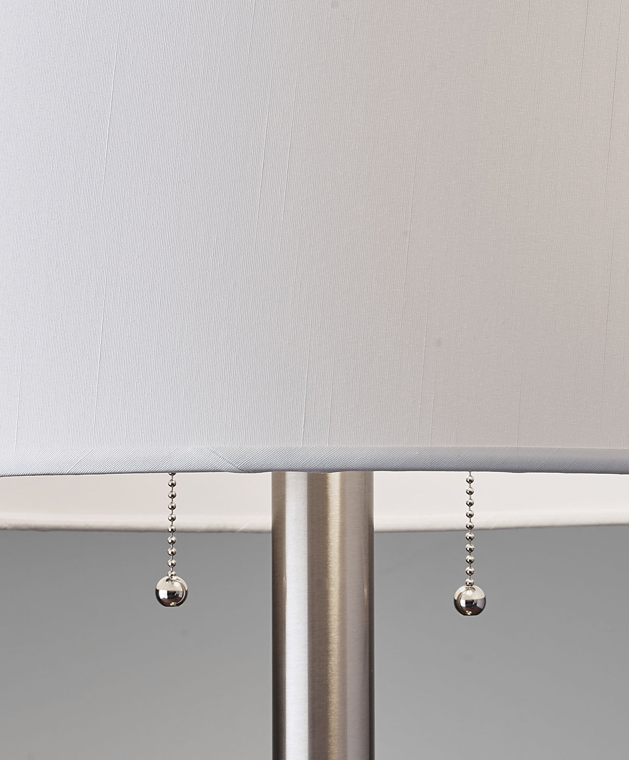 Adesso 4066-22 Boulevard 28'' Table Lamp, Satin Steel, Smart Outlet Compatible