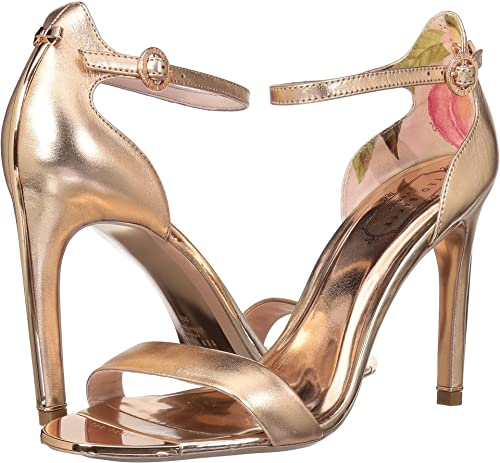 2afac6432a57 Amazon.com  Ted Baker Women s Sharlot Rose Gold Leather 5 M US  Shoes