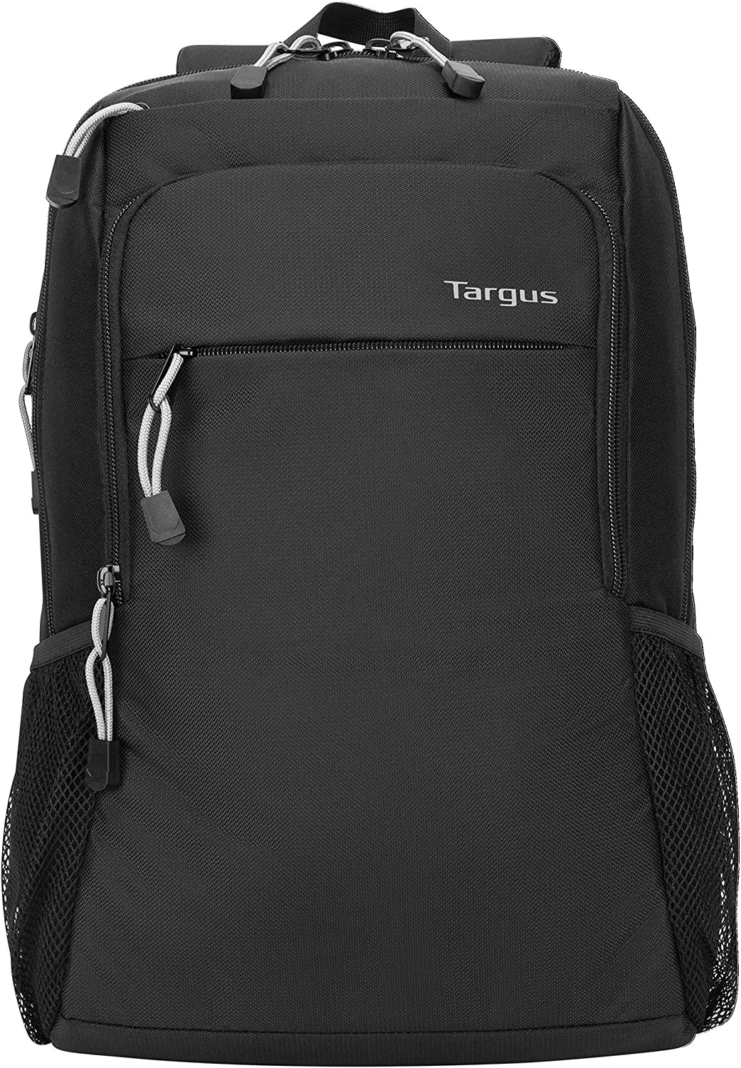 Targus Intellect Advanced Laptop Backpack for Lightweight Water-Resistant Slim Travel with Padded Back Support, Quick Access Stash Pouch, Protective Sleeve for 15.6-Inch, Black (TSB968GL)