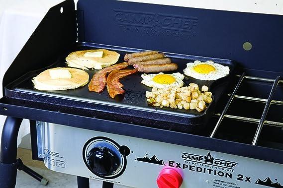Camp Chef Expedition 2 Hornillo de gas con Bonus parrilla de hierro fundido