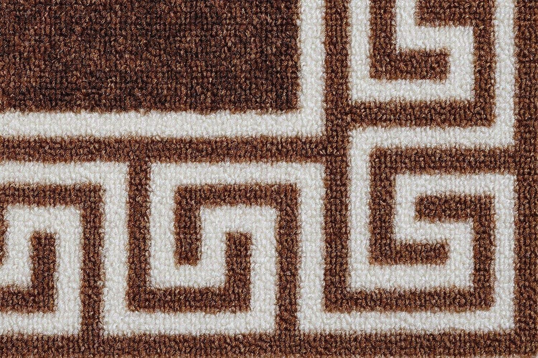 Carpet Runner for Hallways Bedroom Living Room Kitchen Narrow Hall Small Medium Large Extra Long Area Rugs Carpets 2ft 6 x 5ft 80 x 150cm Blue Greek Key Non Slip Backing Mats