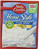 Betty Crocker Fat Free Frosting Mix Home Style Fluffy White 7.2 oz Box (pack of 12)