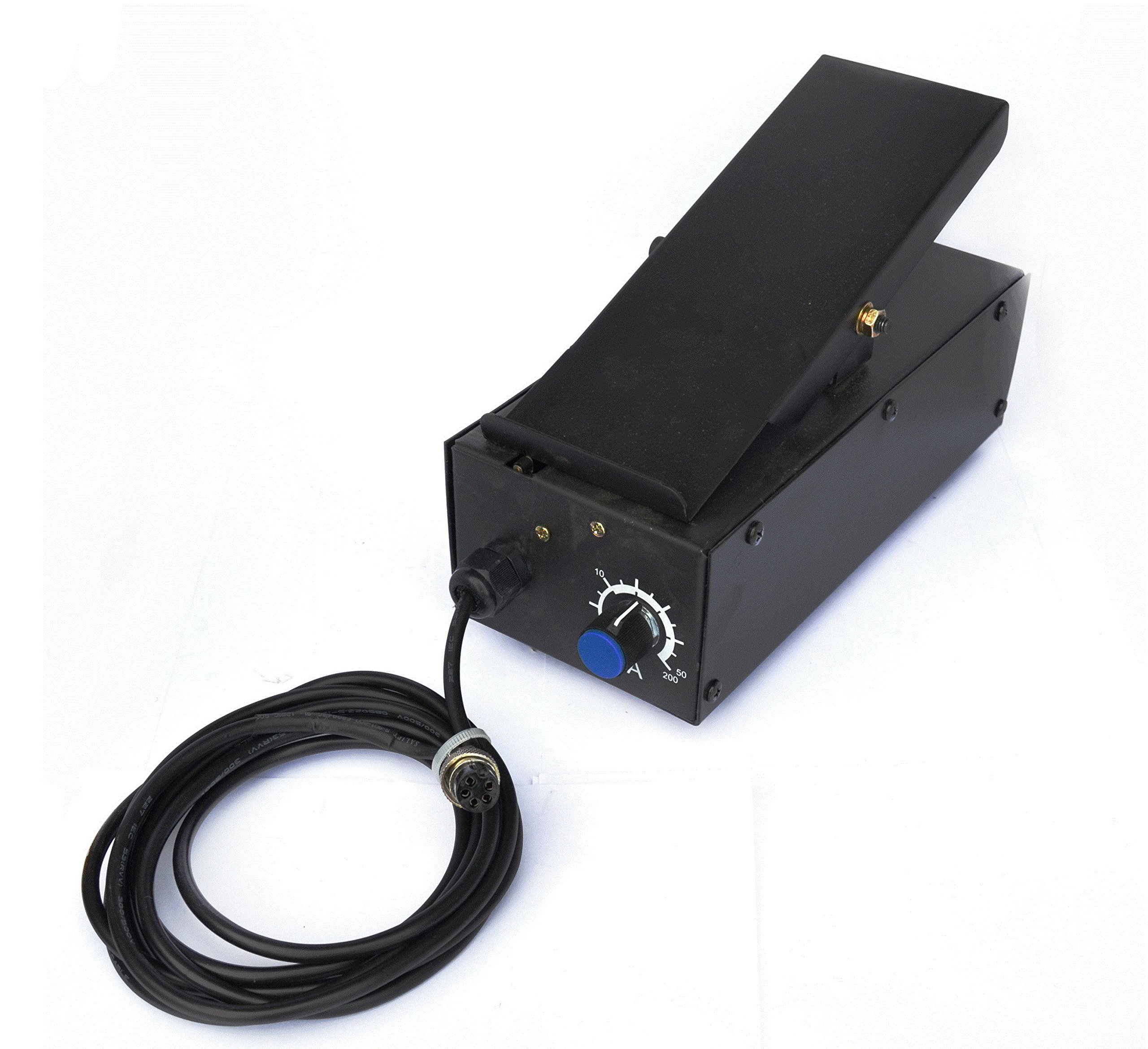 Lotos Technology FP05 Foot Pedal for Plasma Cutter Welder Amp Control 5 Pin Lotos FP05 for Plasma Cutter and Welder Combos CT520D LTPDC2000D by Lotos Technology