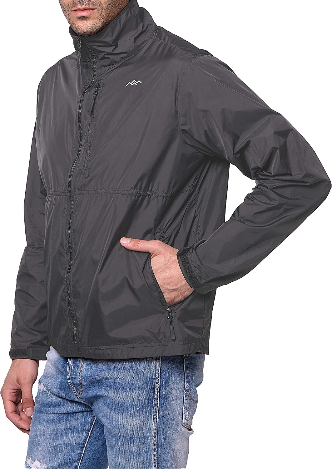 Mens Lightweight Jacket Nylon Windbreaker Jackets with Zipper Pocket TRAILSIDE SUPPLY CO