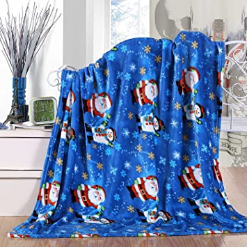 Agbasic Flannel Snowman Throw with Christmas Snowflake Gray Style Velvet Touch Ultra Plush Holiday Printed New Year Fleece Bed Sofa Blanket 50 x 60inch Warm for Winter