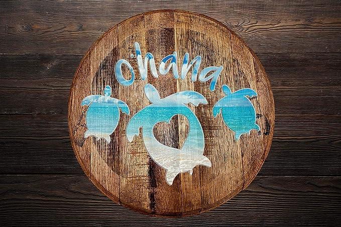 Details about  /Whiskey Barrel Head Sea Turtle Oceanholic Ocean Marine Life Beach Home Décor