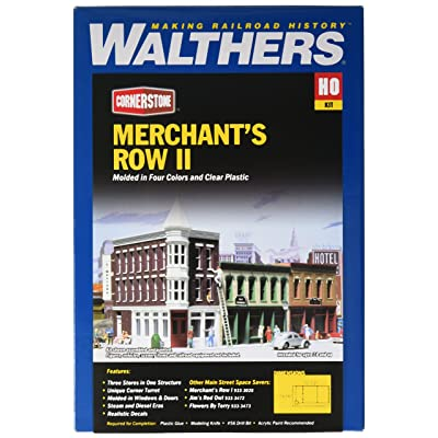 Walthers Cornerstone Series Kit HO Scale Merchant's Row II: Toys & Games