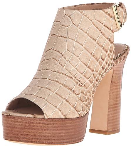 f53d58ec55 Rachel Zoe Women's Harper Peep-Toe Platform Heel, Natural, 5.5 M US ...
