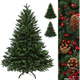 Luxus Christbaum WINTERZAUBER künstlicher Weihnachtsbaum PE Spritzguss Tannenbaum in verschiedenen Größen und Farben inkl. Standfuß künstliche Tanne , Farbe:Dunkelgrün;Höhe:120 cm (360 Spitzen)