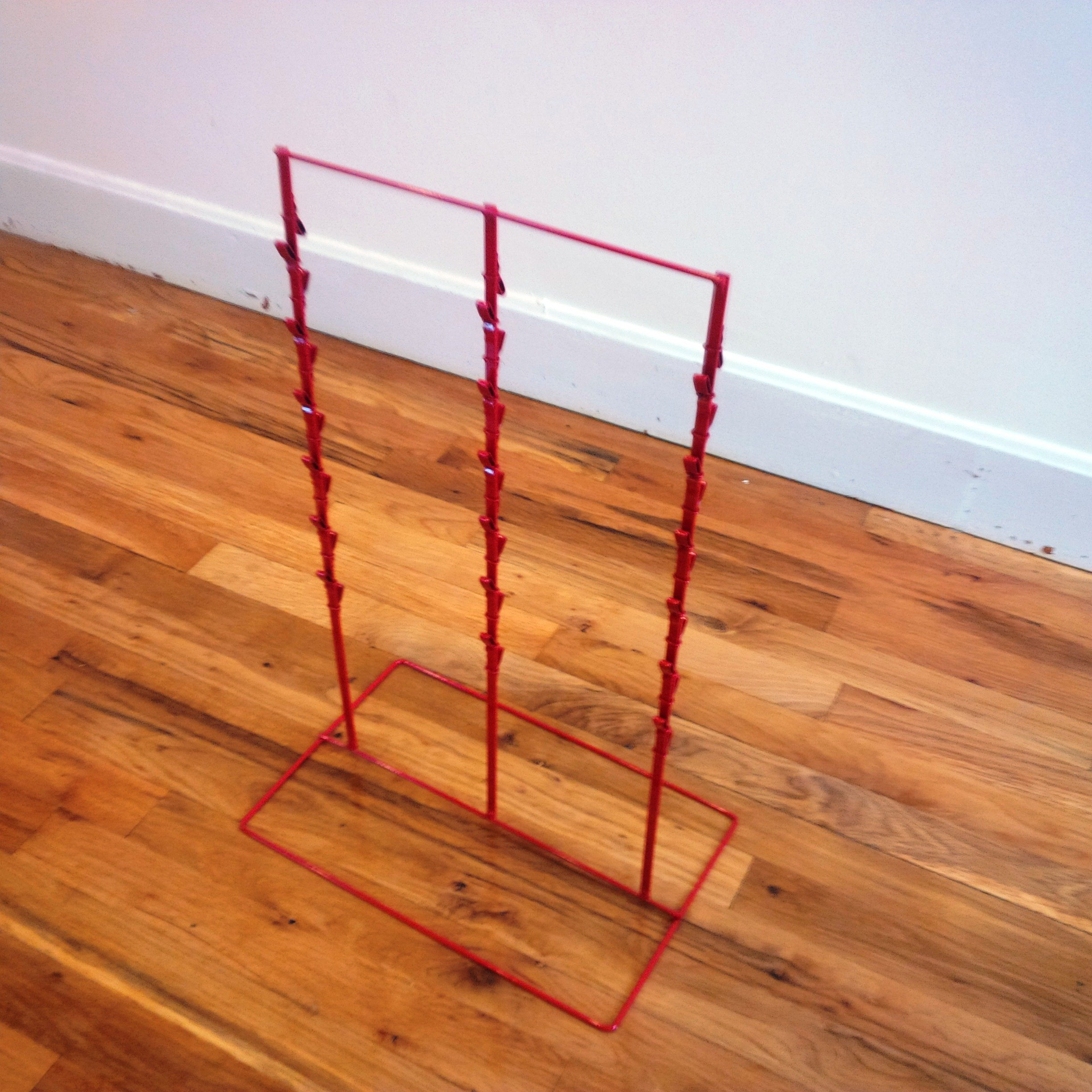 Single 3 Round Strip 6'' Apart 39 Chip Counter Potato Chip Display Rack in Red by counter rack (Image #2)