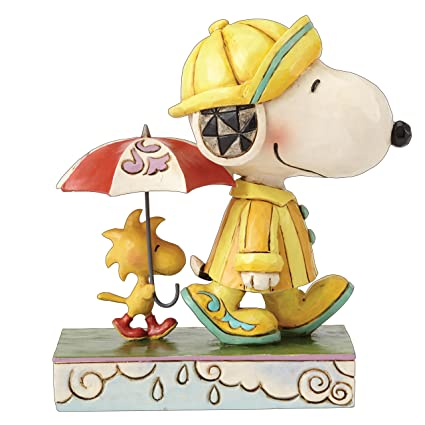 377ab8cc2bda7 Amazon.com: Enesco Jim Shore Peanuts Friends Through Rain or Shine ...