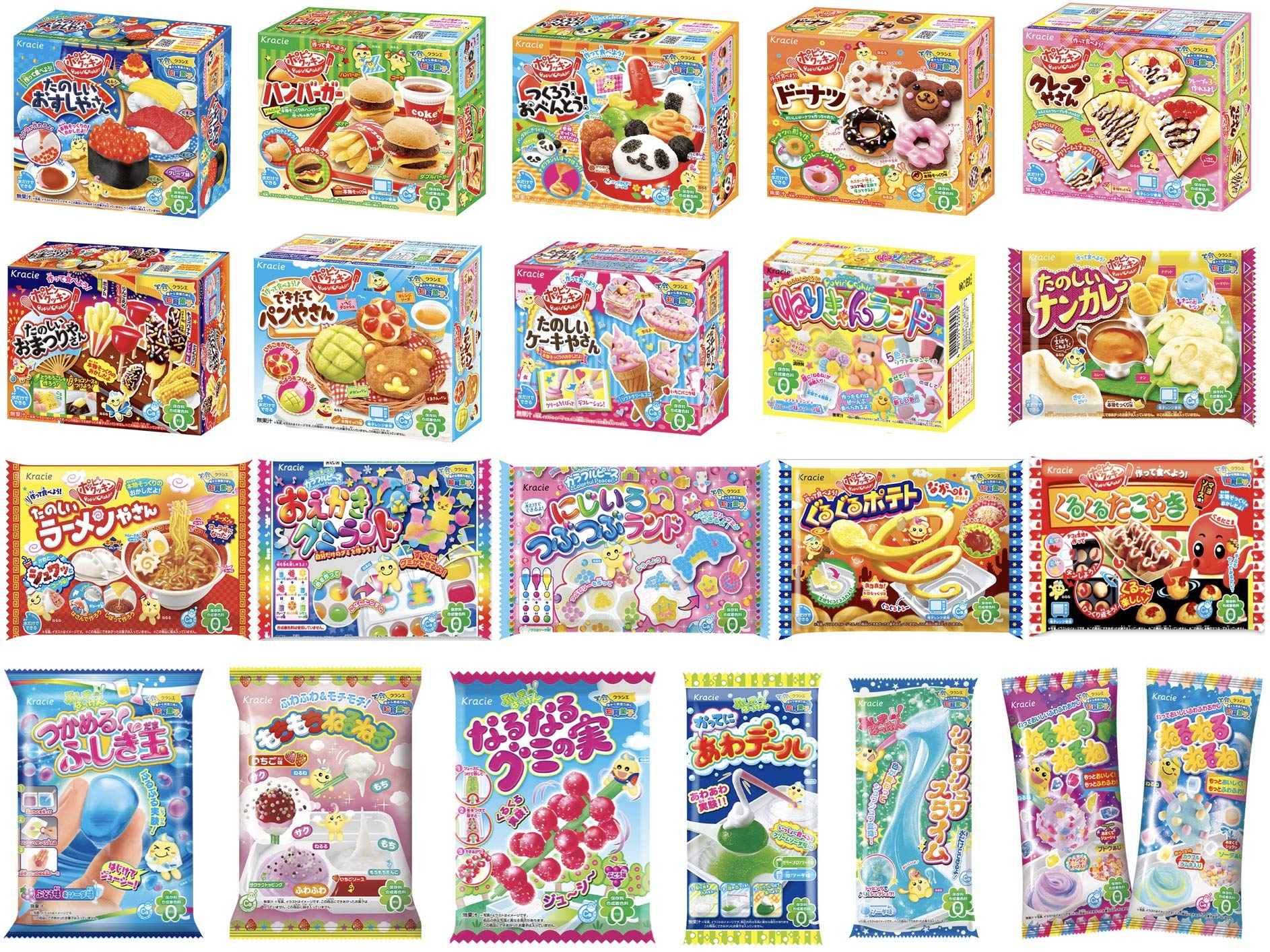 Kracie Popin Cookin Kits 20 DIY Candy Sets Free Airmail & Tracking 2 wks average by Kracie