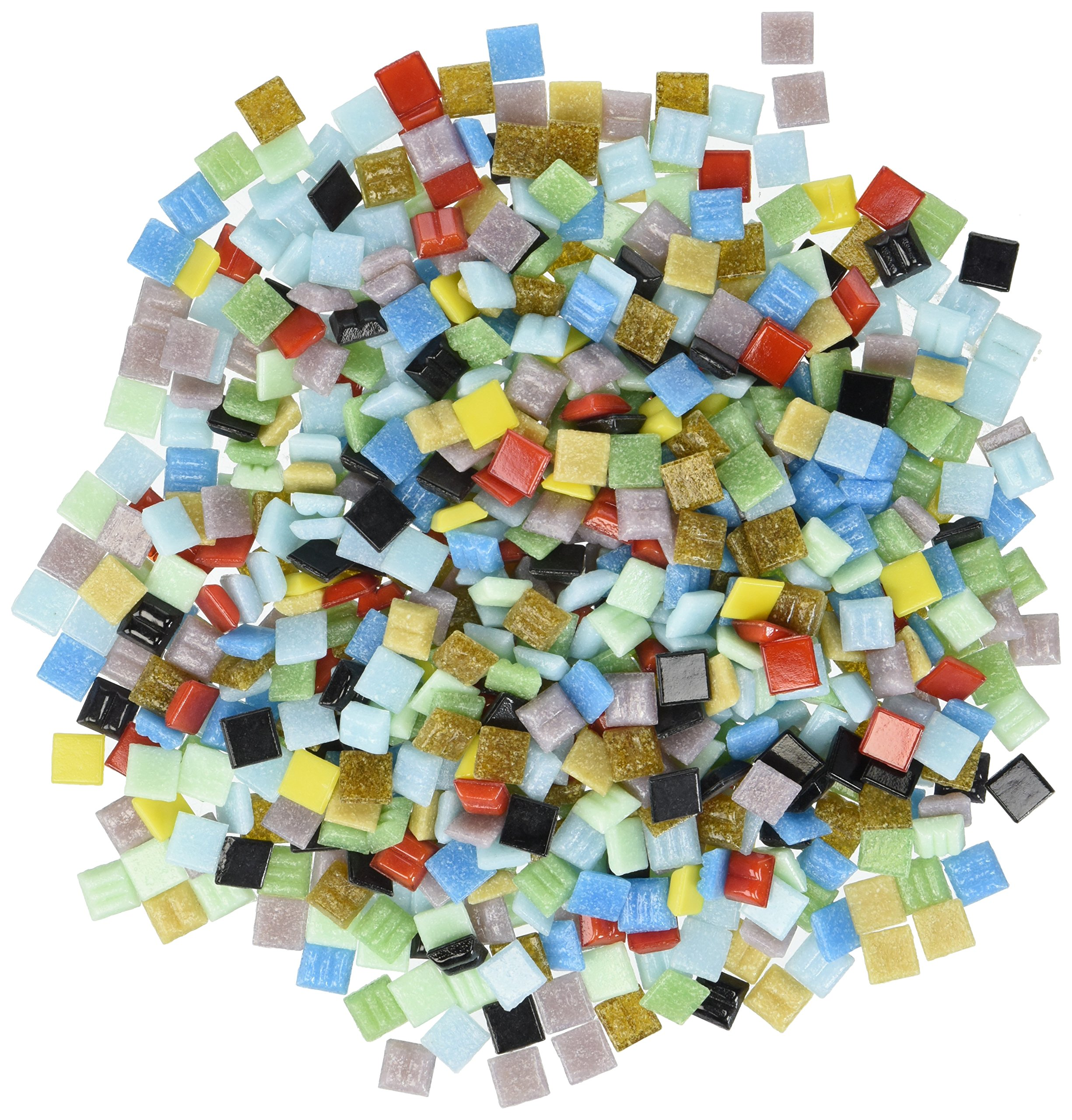 Mosaic Mercantile Vitreous Glass Mosaic Tiles - Assorted Colors - 3/8'' - 1 Pound Bag