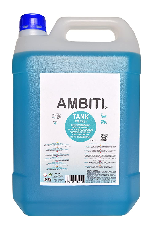 Ambiti Tank Fresh 5 L. aditivo para Las Aguas Grises de Autocaravanas y Campers