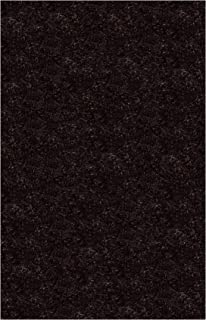 product image for Super Shag Area Rug Shaw Swag Collection Dazzling Ebony 6 Feet x 9 Feet.