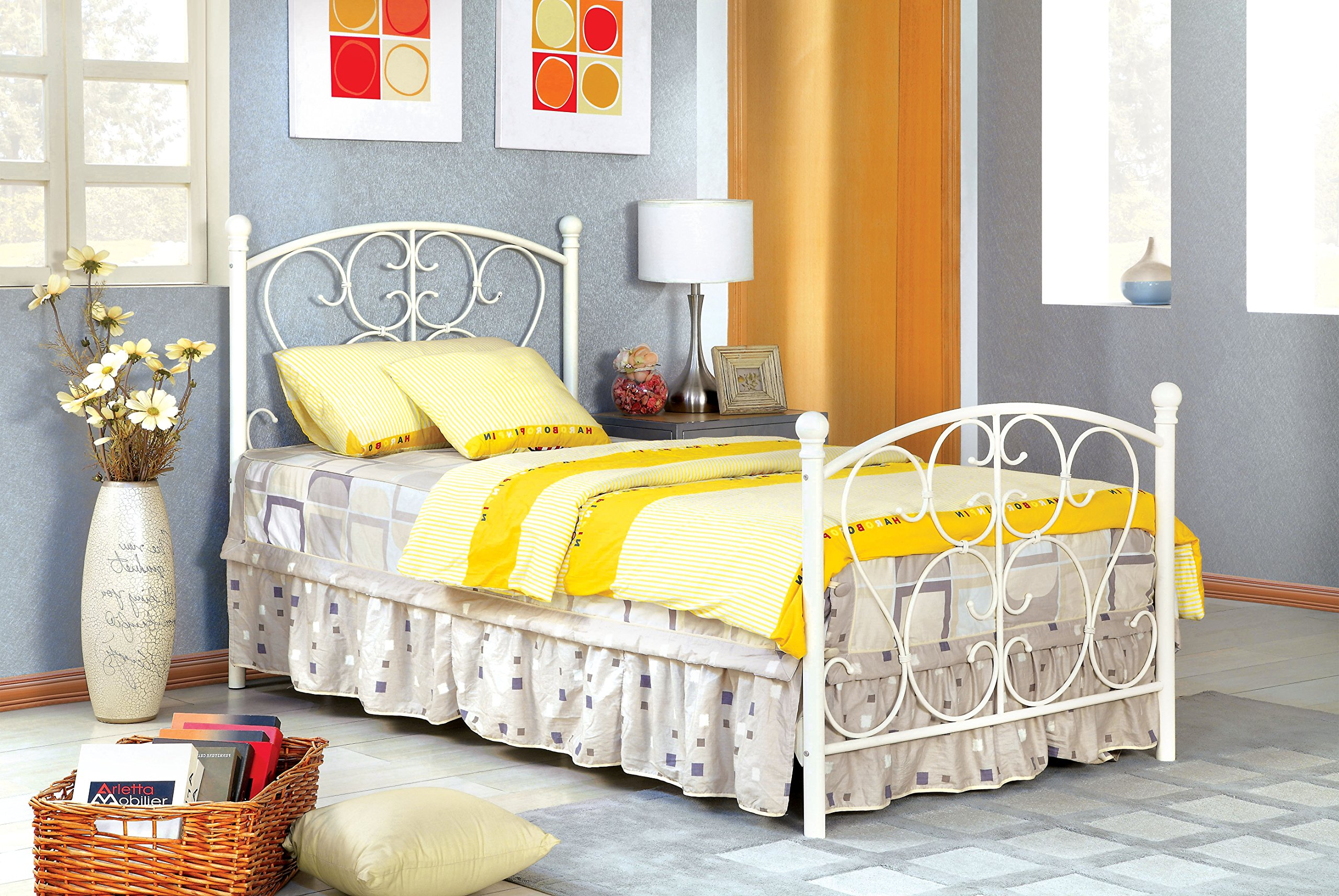 Furniture of America Delia Princess Metal Youth Bed, White by HOMES: Inside + Out