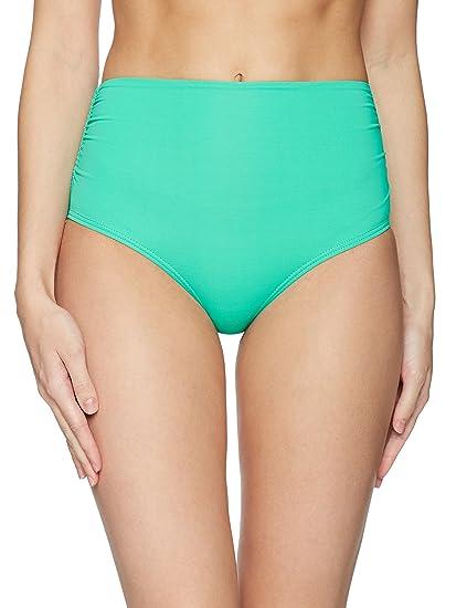 0bc4d07bd1 Anne Cole Women's Convertible High-Waist to Fold Over Shirred Bikini Bottom  Jade, X