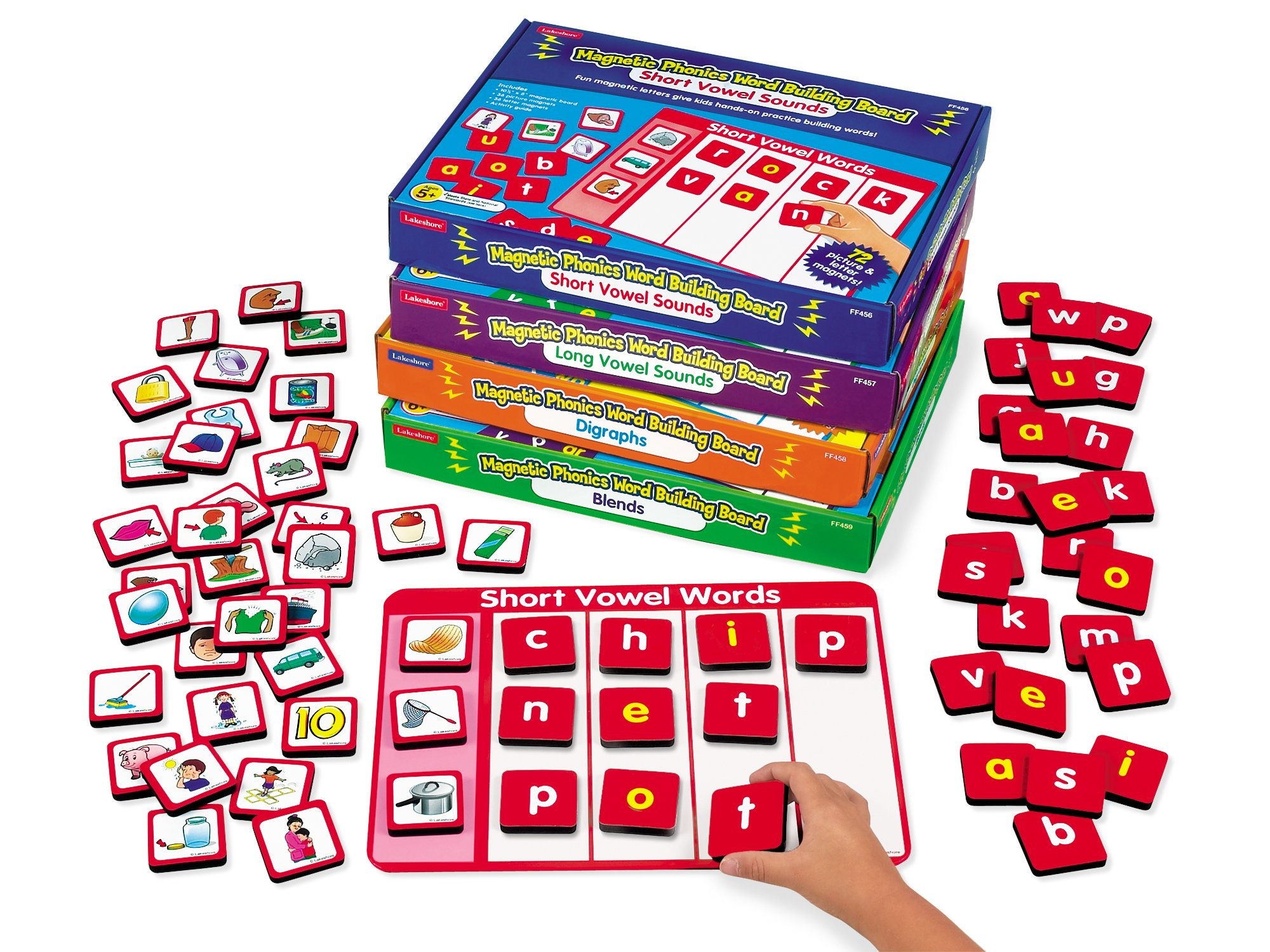 Lakeshore Phonics Magnetic Word Building Boards - Complete Set