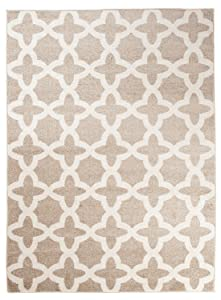 Tapiso Alfombra De Salón Moderna Colección Marroquí – Color Beige De Diseño Geométrico Enrejado – Mejor Calidad – Diferentes Dimensiones S-XXXL S-XXXL 160 x 220 cm