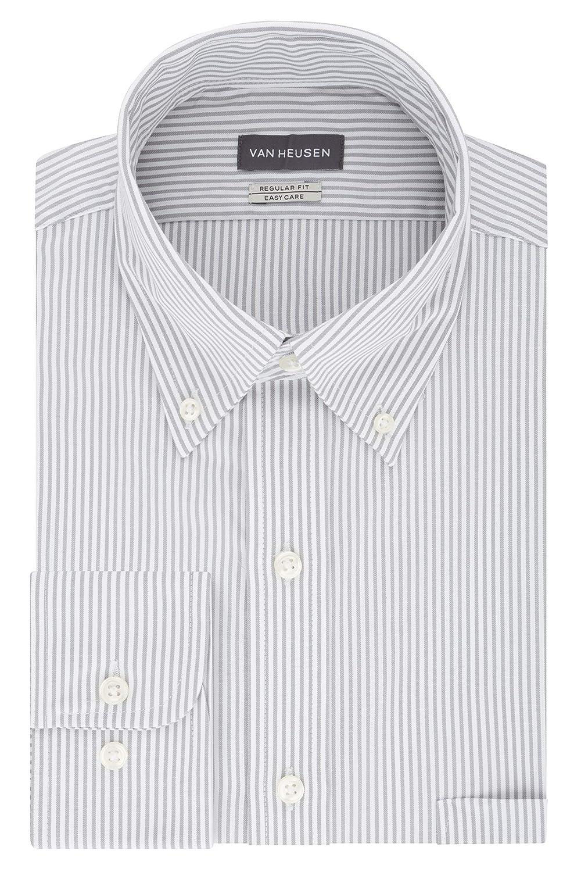 49a71f3797 Van Heusen Men s Pinpoint Regular Fit Stripe Button Down Collar Dress Shirt  at Amazon Men s Clothing store  Dress Shirts