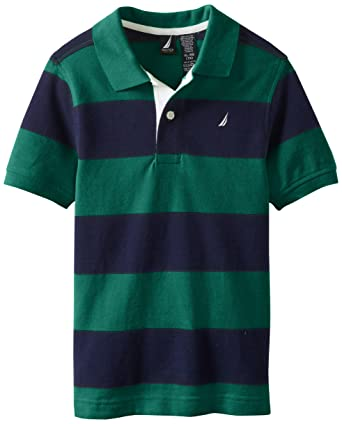 a3832a299 Amazon.com  Nautica Boys  Short-Sleeve Striped Pique Polo Shirt  Clothing