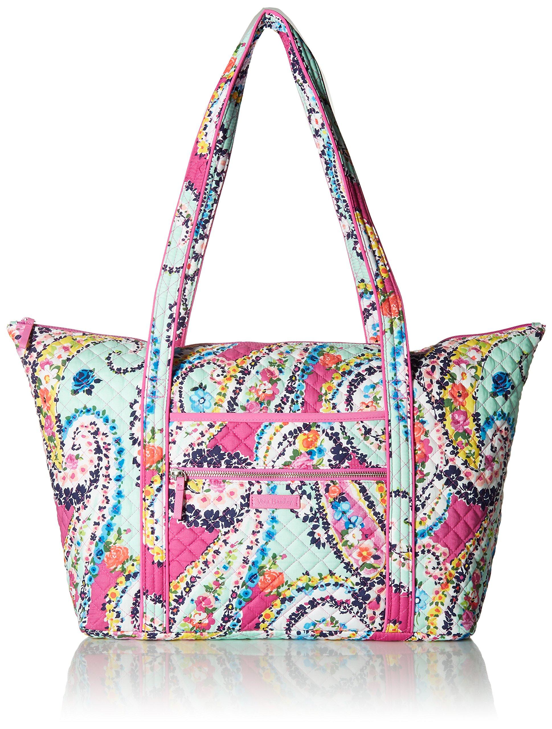 Vera Bradley Iconic Miller Travel Bag, Signature Cotton, Wildflower Paisley