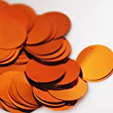20mm Round SEQUIN PAILLETTES ~ COPPER ORANGE ~ Loose sequins for embroidery, bridal, applique, arts, crafts, and embellishment. Made in USA.