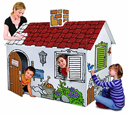 Coloring Playhouse Discovery Kids Cardboard Color And Play Play ...