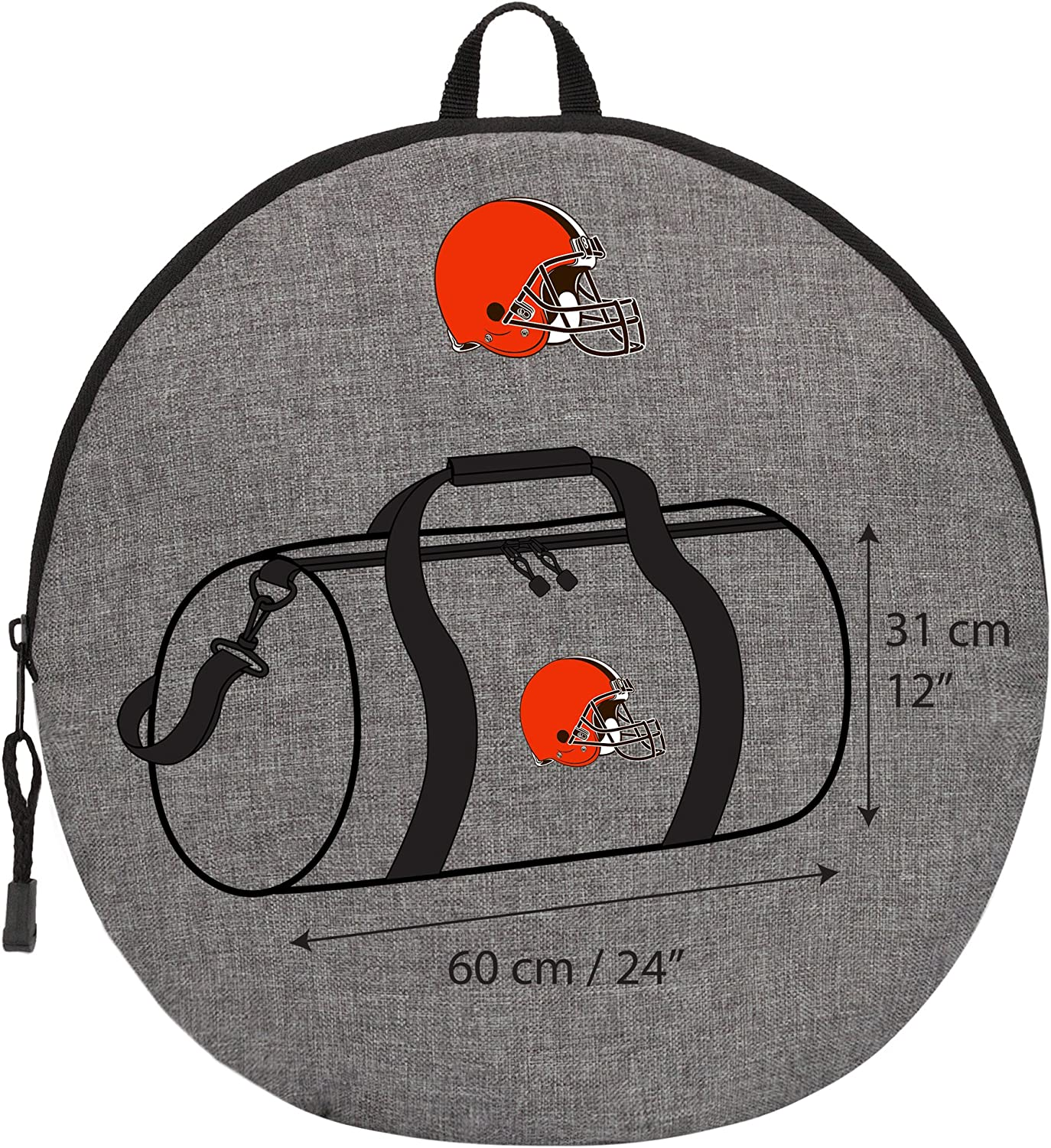 Gray Officially Licensed NFL Wingman Duffel Bag 24 x 12 x 12