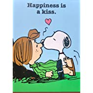 Peanuts Graphique Notepad Happiness is a Kiss, Snoopy & Peppermint Patty
