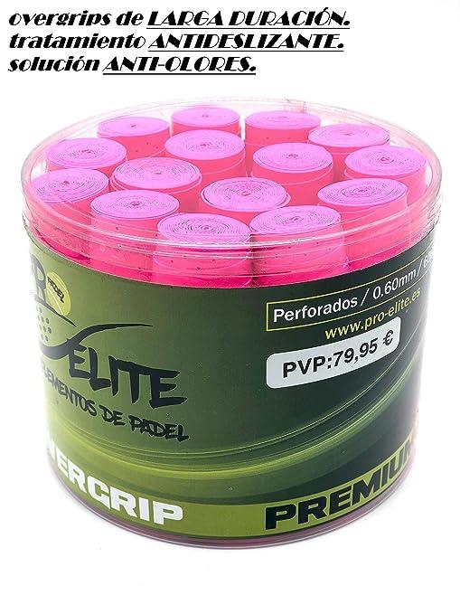 overgrips Pro Elite Premium Perforados Rosas Flúor. Bote de ...