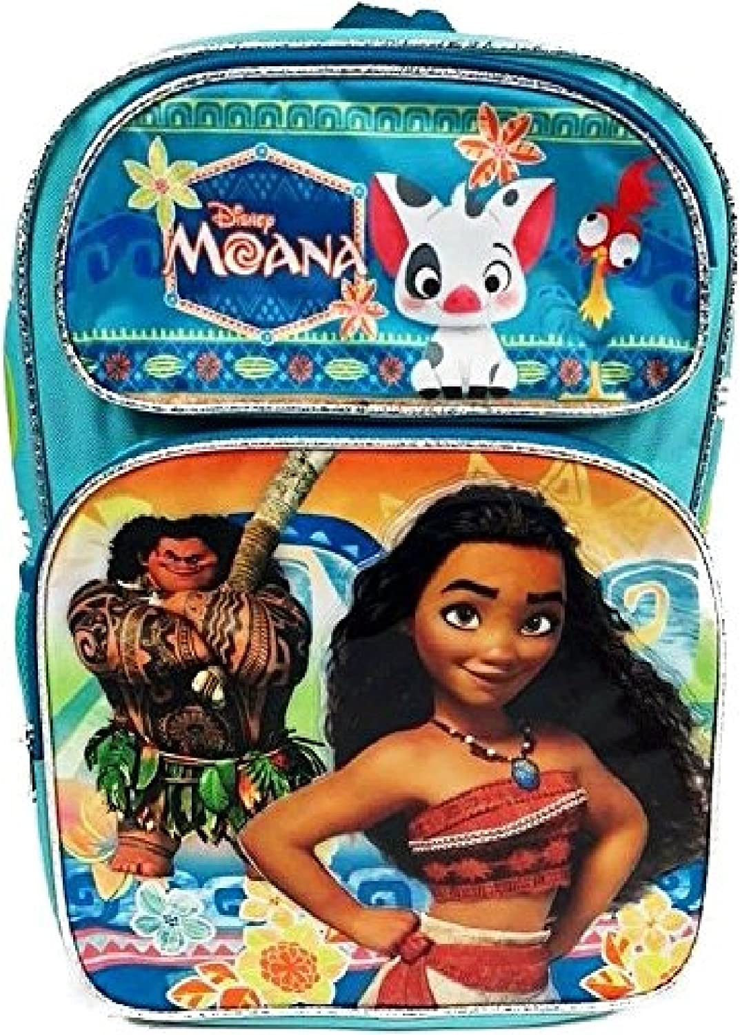 "Disney Moana /& Pua Girl 16/"" Large Backpack School Book Bag"