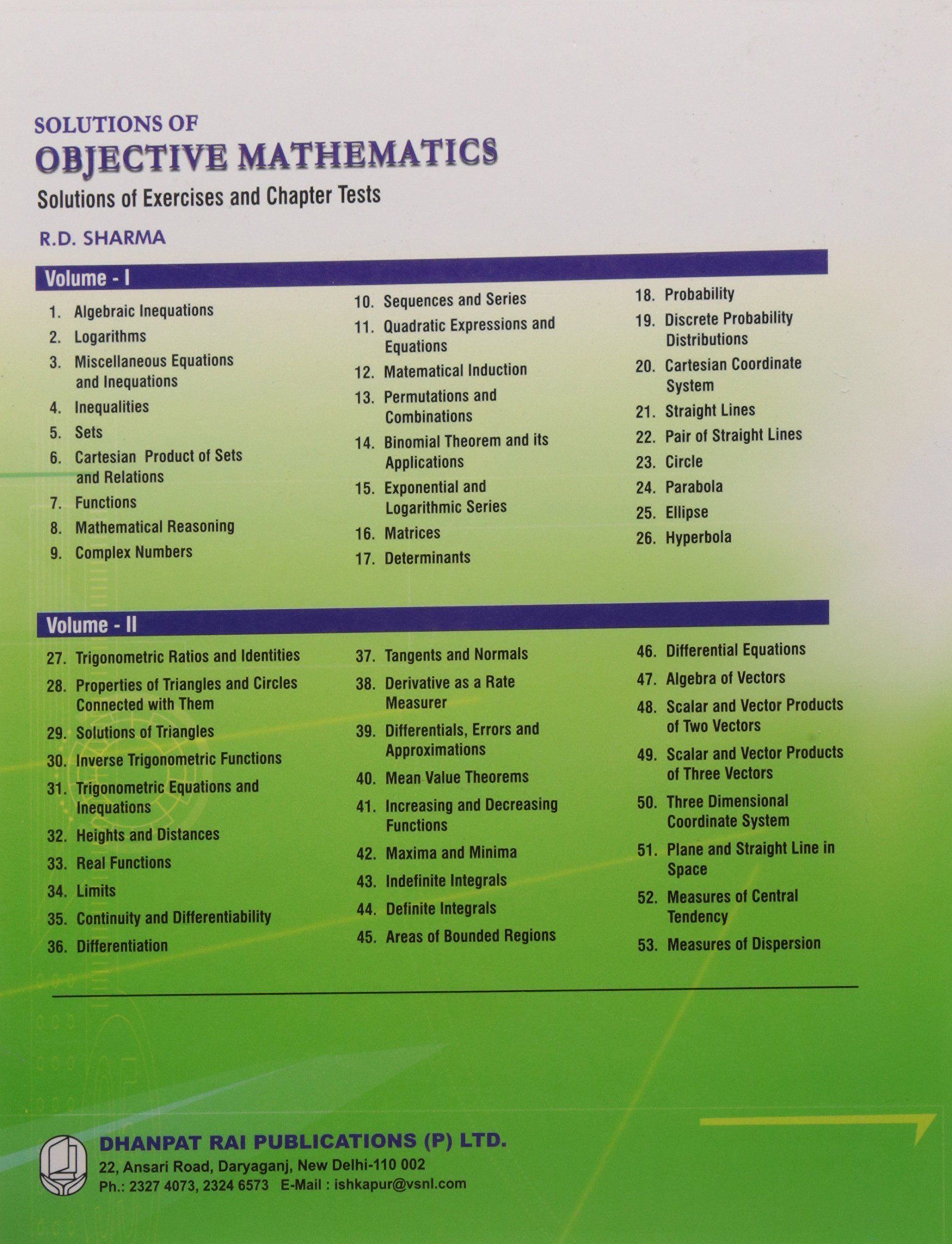 Amazon in: Buy Solutions of Objective Mathematics (Solutions