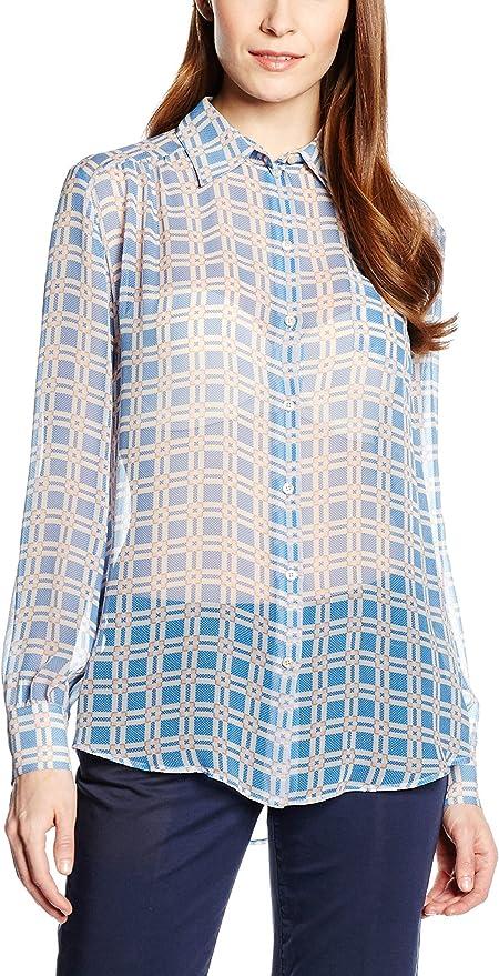 Trussardi Jeans by Trussardi Camisa Mujer Azul Celeste/Nude ...