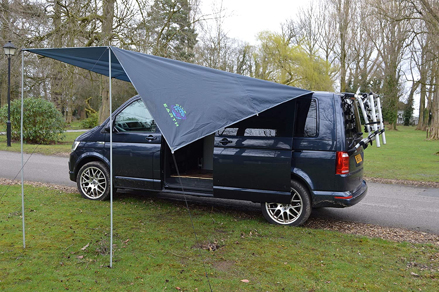 Wild Earth Sun canopy awning for VW Camper Van motorhome 300cm x 240cm Dark Grey