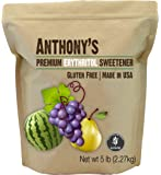 Erythritol Granules (5lbs) by Anthony's, Made in the USA, Non-GMO, Natural Sweetener