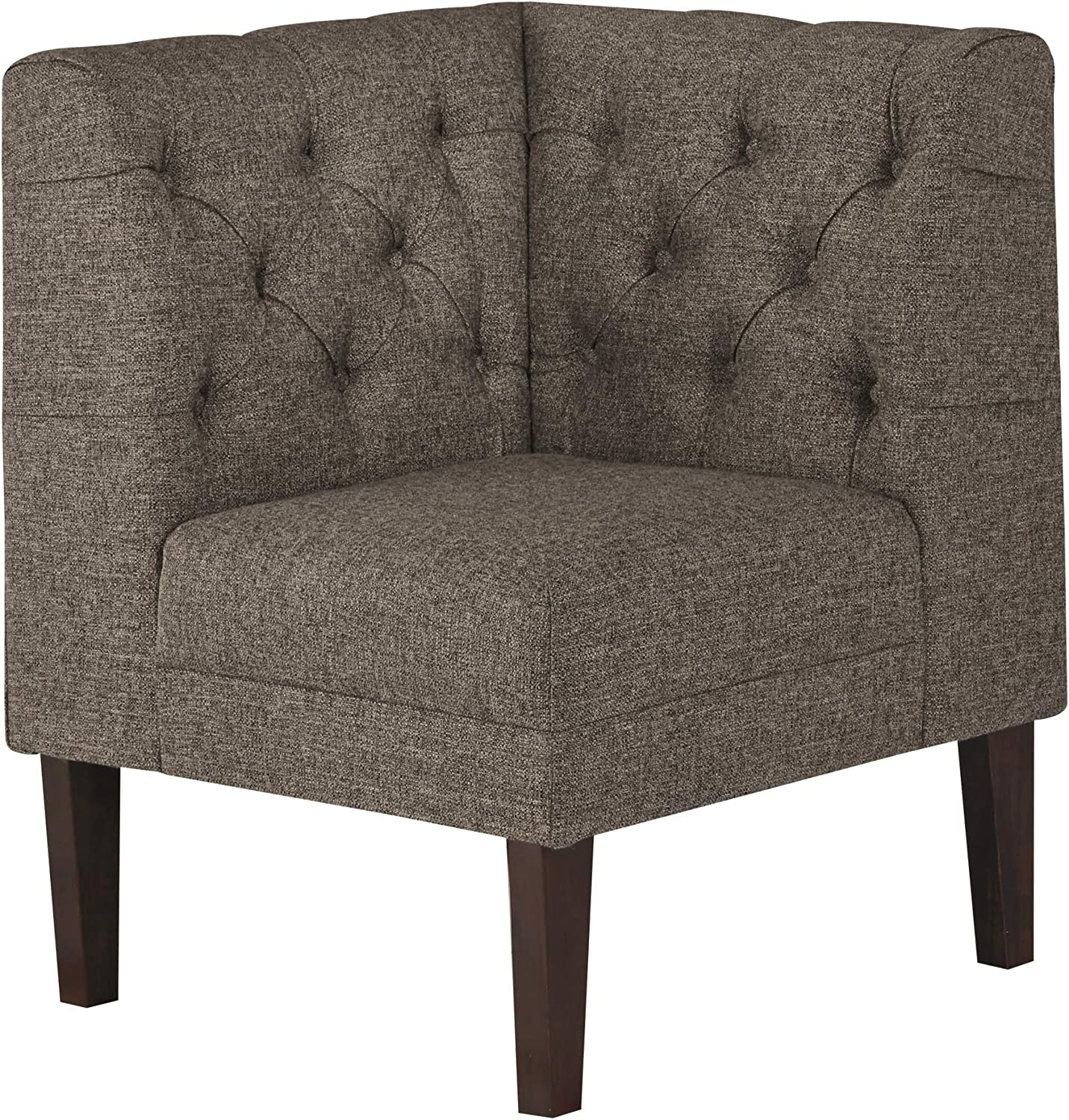 Medium Brown Casual Style Signature Design By Ashley Tripton Corner Upholstered Bench