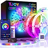 100ft Bluetooth LED Strip Lights, SMD5050 Music Sync LED Lights Strip, RGB Color Changing LED Lights with Remote,Smart Phone