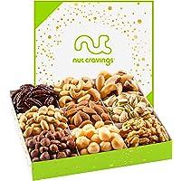 Holiday Nut Gift Basket, White Box (9 Mix) - Thanksgiving, Christmas, Xmas Food Arrangement Platter, Variety Care…